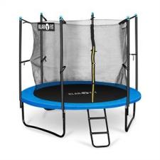 KLARFIT Rocketboy 250, 250 cm trambulin, belső biztonsági háló, széles létra, kék trambulin szett