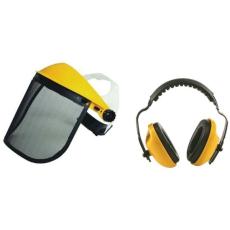 MV arcvédő rostély 190x 305mm +homlokpánt+fülvédő
