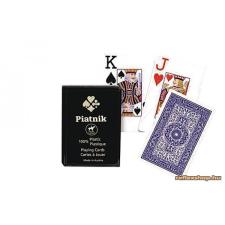 Piatnik plasztik römi kártya 2*55 lap 4 indexes, műanyag dobozos kártyajáték