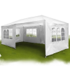 Kerti pavilon, sörsátor 6 oldalfallal 6x3 m fehér
