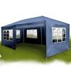Kerti pavilon, sörsátor 6 oldalfallal 6x3 m kék