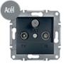 Asfora - TV-R-SAT aljzat, végzáró, 1 dB, keret nélkül, acél