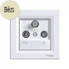 Asfora - TV-R-SAT aljzat, végzáró, 1 dB, komplett, bézs