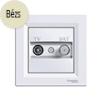 Asfora - TV-SAT aljzat, végzáró, 1 dB, komplett, bézs