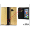 Mozo Nokia Lumia 640 XL flipes tok - Mozo Book Case - gold