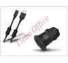 Haffner USB szivargyújtó töltő adapter + micro USB adatkábel - 5V/1A - fekete mobiltelefon kellék