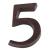 NEMMEGADOTT SB házszám alu. 5 barna 11cm