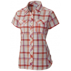 Columbia Camp Henry Short Sleeve Shirt Ing,blúz D (AL7979m_800-Coral Flame)