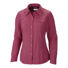 Columbia Silver Ridge(TM) Plaid Long Sleeve Shirt D (AL7077l_651-Groovy Pink Print) Női ing