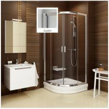Ravak Blix BLCP4-90 szatén-natúr 90x90 cm íves zuhanykabin kád, zuhanykabin