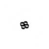E22 , 4-slot kábelrendezõ fekete 4 mm kábelhez