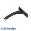 ALU-Design függönyarnis, 1 soros oldalfali tartó, fekete