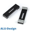 ALU-Design függönykarnis, 2 soros mennyezeti tartó, fekete