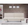 Beliani Kárpitozott kanapéágy - Szövet kanapé - bézs -YORK