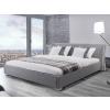 Beliani Franciaágy - Kétszemélyes ágy - Kárpitozott ágy, ágyráccsal - Szürke 180x200 cm - PARIS