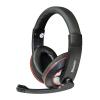 Vakoss MSONIC sztereó mikrofonos fejhallgató, hangerőszabályzóval MH535KR fekete-piros