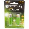 Techly alkalikus elem, 1.5V AA LR6, 2 darab