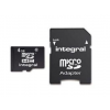 Integral Memory card Integral microSDHC 4GB CL4 + Adapter