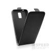 utángyártott Flip tok szilikon belsővel, Huawei P8 Lite, fekete