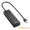 Sharkoon 4-Port USB3.0 Aluminium Hub Black