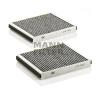 MANN FILTER CUK2533-2 Aktívszenes pollenszűrő BMW 5, 6, 7