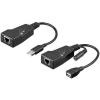 Goobay USB-s RJ45 CAT 5/5a/6 Extender, továbbító max.100m Goobay 69074