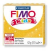 Gyurma, 42 g, égethető, FIMO Kids, glitteres arany