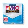 Gyurma, 56 g, égethető, FIMO Effect, áttetsző kék