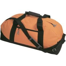 600D poliészter, Sport-, utazótáska, narancs (vállpánttal, cipzáras zsebbel)