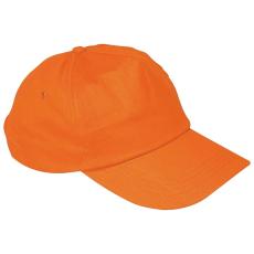 Vászon baseballsapka, narancs (5 paneles baseballsapka pamutból)