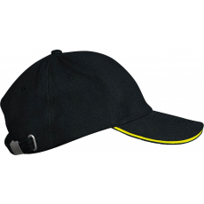 KARIBAN sapka, 6 paneles,U, fekete/yellow (Kariban sapka, 6 paneles,U, fekete/yellow)