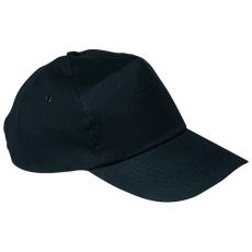 Vászon baseballsapka, fekete (5 paneles baseballsapka pamutból)