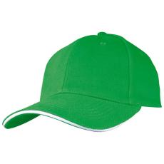 SANDWICH baseballsapka, zöld (SANDWICH 6 paneles vászon baseballsapkaszellõzõnyílásokkal.)