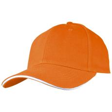 SANDWICH baseballsapka, narancs (SANDWICH 6 paneles vászon baseballsapkaszellõzõnyílásokkal.)