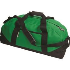 600D poliészter, Sport-, utazótáska, zöld (vállpánttal, cipzáras zsebbel)