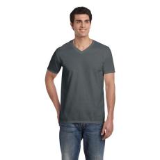GILDAN V. nyakú férfi póló, faszénszürke (Gildan V. nyakú férfi póló, faszénszürke)