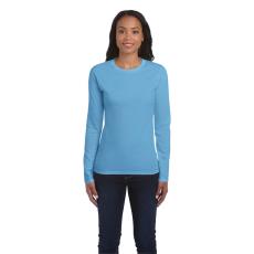 GILDAN női h.ujjú Softstyle póló, világoskék (Gildan női h.ujjú Softstyle póló, világoskék)