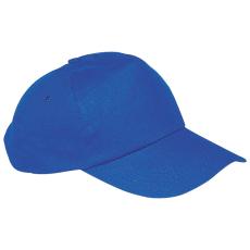 Vászon baseballsapka, kék (5 paneles baseballsapka pamutból)