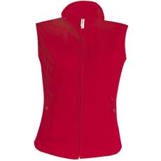 KARIBAN női mikropolár mellény, piros (Kariban női mikropolár mellény, piros)