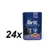 Brit Premium Cat Pouches Macskaeledel, tőkehal ízű, 24x100g
