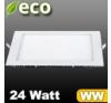 ECO LED panel (négyzet alakú) 24 Watt - meleg fehér fényű világítási kellék