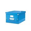 Irattároló doboz, A4, lakkfényű, LEITZ Click&Store, kék