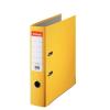 Iratrendező, 75 mm, A4, PP/karton, élvédő sínnel, ESSELTE Economy, sárga