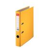 Iratrendező, 50 mm, A4, PP/karton, élvédő sínnel, ESSELTE Economy, sárga