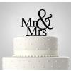 Mr & Mrs, esküvői tortadísz