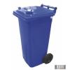 Külső hulladéktároló, szemetes kuka, kék színben, 120 literes, műanyag 0004-1