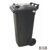 Külső hulladéktároló, szemetes kuka, fekete színben, 120 literes, műanyag 0004-3