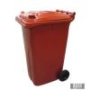 Külső hulladéktároló, szemetes kuka, piros színben, 240 literes, műanyag HUL-0005-6