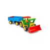 Wader Óriás traktor utánfutóval és homlokrakodóval