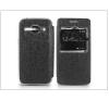 Haffner Samsung SM-J100 Galaxy J1 S-View Flexi oldalra nyíló flipes tok - fekete tok és táska